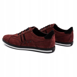 Polbut 1801 burgundy men's casual shoes red 8