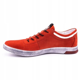 Polbut Men's leather casual shoes K23 red nubuck 1