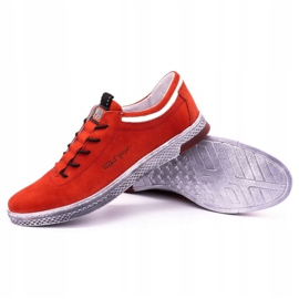 Polbut Men's leather casual shoes K23 red nubuck 3