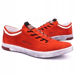 Polbut Men's leather casual shoes K23 red nubuck 5