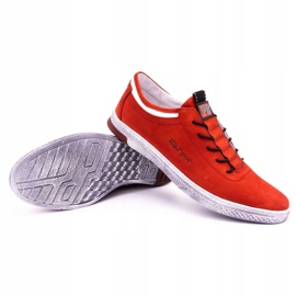 Polbut Men's leather casual shoes K23 red nubuck 6