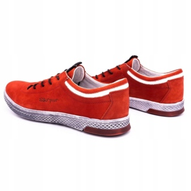 Polbut Men's leather casual shoes K23 red nubuck 7