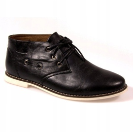 High Lace-Up Shoes TL8900 Black 1