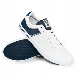 Men's Sneakers Big Star FF174136 White and Navy navy blue 6