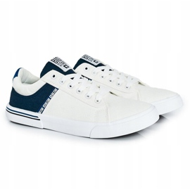 Men's Sneakers Big Star FF174136 White and Navy navy blue 1