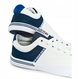 Men's Sneakers Big Star FF174136 White and Navy navy blue 3