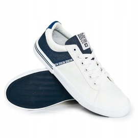Men's Sneakers Big Star FF174136 White and Navy navy blue 5