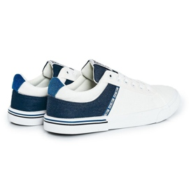 Men's Sneakers Big Star FF174136 White and Navy navy blue 2