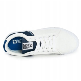 Men's Sneakers Big Star FF174136 White and Navy navy blue 4