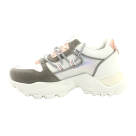 Evento Sports women's sneakers News 21SP26-3973 white silver grey golden 4