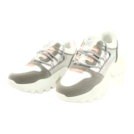 Evento Sports women's sneakers News 21SP26-3973 white silver grey golden 5