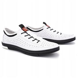 Polbut Men's leather summer shoes K22 white 2