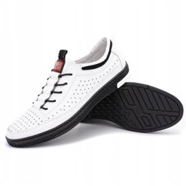 Polbut Men's leather summer shoes K22 white 3