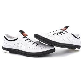 Polbut Men's leather summer shoes K22 white 6