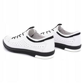 Polbut Men's leather summer shoes K22 white 7