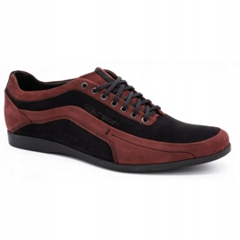 Polbut Men's casual shoes 2101P burgundy red 3