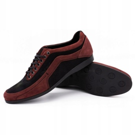 Polbut Men's casual shoes 2101P burgundy red 7