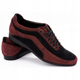 Polbut Men's casual shoes 2101P burgundy red 8
