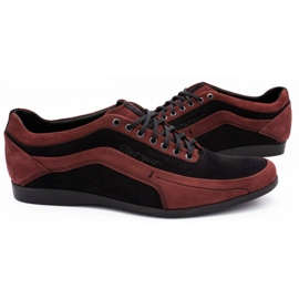 Polbut Men's casual shoes 2101P burgundy red 9