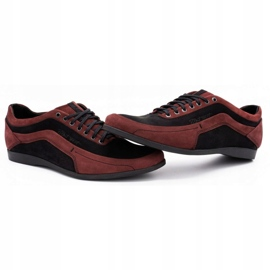 Polbut Men's casual shoes 2101P burgundy red 10