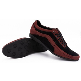 Polbut Men's casual shoes 2101P burgundy red 1