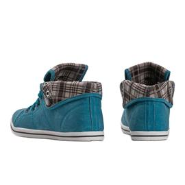 High Sneakers Konwers DD52 Blue 1