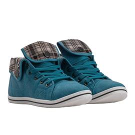 High Sneakers Konwers DD52 Blue 2