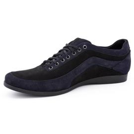 Polbut Men's casual shoes 2101P navy blue nubuck with black 4