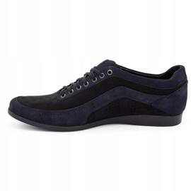 Polbut Men's casual shoes 2101P navy blue nubuck with black 5