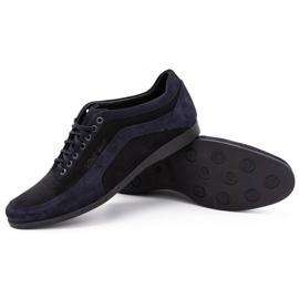 Polbut Men's casual shoes 2101P navy blue nubuck with black 7