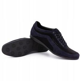 Polbut Men's casual shoes 2101P navy blue nubuck with black 1