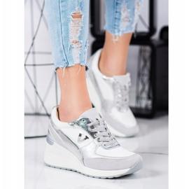 VINCEZA Wedge Sneakers white 4
