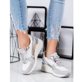 VINCEZA Wedge Sneakers white 1