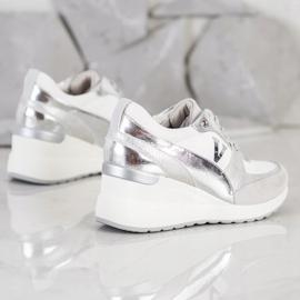 VINCEZA Wedge Sneakers white 3
