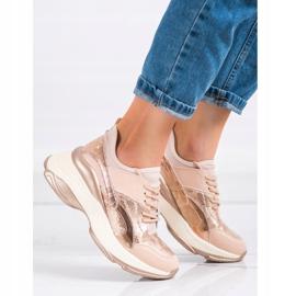 Bestelle Fashionable Sneakers On Platform pink golden 1