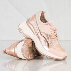 Bestelle Fashionable Sneakers On Platform pink golden 2