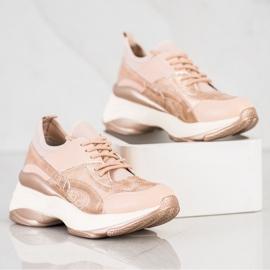 Bestelle Fashionable Sneakers On Platform pink golden 3