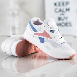 SHELOVET Sport Shoes With A Net white blue pink 5
