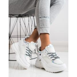 Marquiz Sneakers Wedge white silver 1
