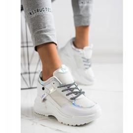 Marquiz Sneakers Wedge white silver 4