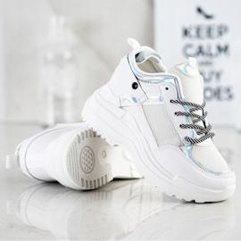 Marquiz Sneakers Wedge white silver 2