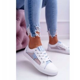 Women's Sneakers With Mesh Big Star DD274689 White-Blue 1