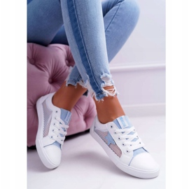 Women's Sneakers With Mesh Big Star DD274689 White-Blue 2