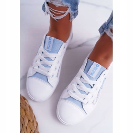 Women's Sneakers With Mesh Big Star DD274689 White-Blue 4