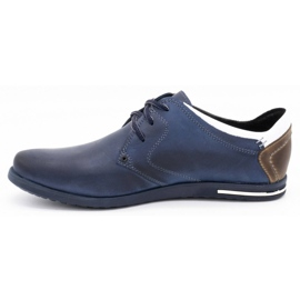 Polbut Men's shoes 2103 navy blue with white multicolored 1