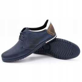 Polbut Men's shoes 2103 navy blue with white multicolored 3