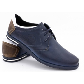 Polbut Men's shoes 2103 navy blue with white multicolored 4