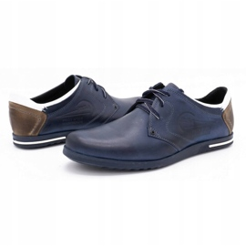 Polbut Men's shoes 2103 navy blue with white multicolored 6