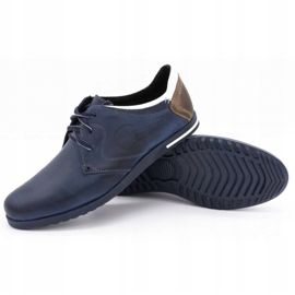 Polbut Men's shoes 2103 navy blue with white multicolored 7