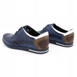 Polbut Men's shoes 2103 navy blue with white multicolored 8
